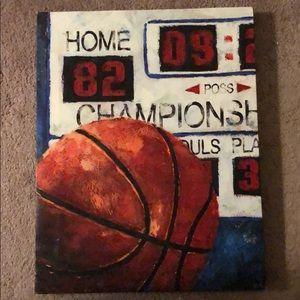 Basketball wall canvas